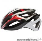 Casque route c-breeze noir/blanc/rouge in-mold avec réglage occipital 56/59 marque Cratoni - Casque Vélo