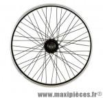 Roue vélo BMX 20 pouces arrière axe 9.5 mm tout alu moyeu acier 48t noir - Accessoire Vélo Pas Cher