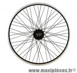 Roue vélo BMX 20 pouces avant axe 9.5 mm tout alu moyeu acier 48t noir - Accessoire Vélo Pas Cher