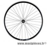 Roue VTC 28 pouces avant blocage jante alu double paroi noir moyeu alu 36t - Accessoire Vélo Pas Cher