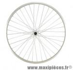 Roue vélo ville 650 x 35b avant blocage jante alu simple paroi argent 36t moyeu alu - Accessoire Vélo Pas Cher