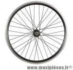 Roue VTT 20 pouces avant blocage jante alu double paroi noir moyeu alu 36t - Accessoire Vélo Pas Cher
