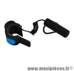 Sonnette vélo électronique en silicone noire 120 db (piles incluses)