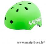 Casque BMX street/dirt yeah vert mat m/l (54/60) avec réglage occipical - Accessoire Vélo Pas Cher