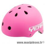 Casque BMX street/dirt yeah rose mat m/l (54/60) avec réglage occipical - Accessoire Vélo Pas Cher