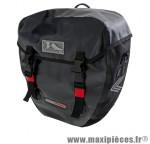 Sacoche vélo cyclo canada noire 100% étanche fixation porte bagage arrière (paire) 2x20l - Accessoire Vélo Pas Cher