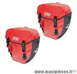 Sacoche vélo cyclo canada rouge 100% étanche fixation porte bagage arrière (paire) 2x20l - Accessoire Vélo Pas Cher