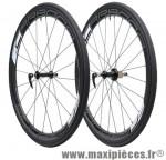 Roue route 700 (paire) carbone carbona 45mm avec boyau moyeux annulaires ed 11/10/ marque Tufo - Matériel pour Vélo