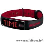 Bracelet/montre tracker d'activités activo noir/rouge marque Sigma - Accessoire Vélo