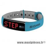 Bracelet/montre tracker d'activités activo bleu marque Sigma - Accessoire Vélo