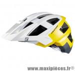 Casque VTT dh allset blanc/jaune/gris in-mold avec réglage occipital 58/61 marque Cratoni - Casque Vélo