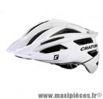 Casque VTT agravic blanc in-mold avec réglage occipital 58/62 marque Cratoni - Casque Vélo