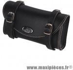 Sacoche selle imitation cuir vintage noir - Accessoire Vélo Pas Cher