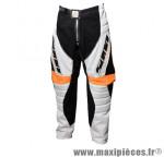 Pantalon BMX lynx adulte blanc/noir/orange t36 - Accessoire Vélo Pas Cher