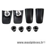 Cache visserie plateau x110 compatible shimano dura ace/9000 noir (x4) marque Spécialités TA - Matériel pour Vélo