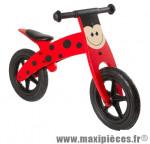Vélo sans pédale en bois draisienne coccinelle rouge des 20 mois 4 ans - Accessoire Vélo Pas Cher - Draisienne pour enfant