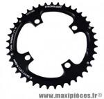 Plateau 41 dents VTT double diamètre 104 extérieur noir 4 branches strong 10v marque Shimano - Matériel pour Vélo