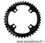Plateau 42 dents VTT double diamètre 104 extérieur noir 4 branches strong 10v marque Shimano - Matériel pour Vélo