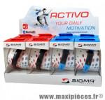 Bracelet/montre tracker d'activités activo (présentoir de 8) marque Sigma - Accessoire Vélo