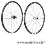 Roue route 700 (paire) fir carbone r25 pneu noir k7 Campagnolo 9/10/11v jante 25mm 1450 grammes - Roues de vélo FIR