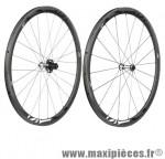 Roue route 700 (paire) fir carbone r36 boyau noir k7 shim 9/10/11v jante 36mm 1370 grammes - Roues de vélo FIR