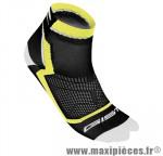 Socquette coton noir/jaune hauteur 8cm 45/48 (paire) marque GIST - Casque Vélo pour cycliste