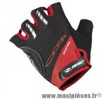 Gant été d grip (taille S) noir/rouge renfort gel (paire) marque GIST - Casque Vélo