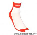 Socquette coton blanc/rouge 30/33 (paire) marque GIST - Casque Vélo pour cycliste