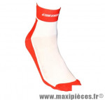 Socquette coton blanc/rouge 34/36 (paire) marque GIST - Casque Vélo pour cycliste
