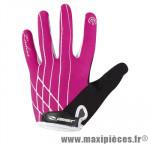 Gant hiver glamour (taille M) rose/noir renforce gel (paire) marque GIST - Casque Vélo