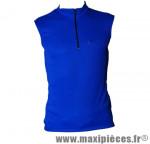 Maillot enfant sans manche bleu (taille XS) 10/12 ans - Accessoire Vélo Pas Cher