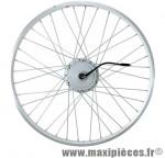 Roue vélo électrique 26 pouces arrière t250 blanc (36v) marque Torpado - Pièce Vélo