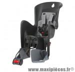Porte bébé arrière sur cadre bilby rs inclinable noir coussin gris fonce <22kgs marque Polisport - Pièce Vélo