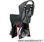Porte bébé arrière sur porte bagage boodie gris fonce coussin gris clair <22kgs marque Polisport - Pièce Vélo