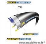Pneu pour vélo de route 700x23 ts power compétition noir 195 g (23-622) prix net marque Michelin - Pièce Vélo