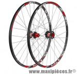Roue VTT 26 pouces (paire) fir hyperlite disc noire 8/9/10v a roulement 1680 grammes - Roues de vélo FIR