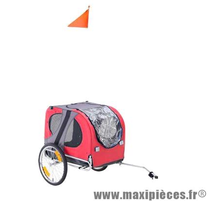 Remorque animaux (roues 20 pouces) poids maxi en charge 40kgs - l80 / l60 / h50 marque Atoo - Matériel pour Vélo