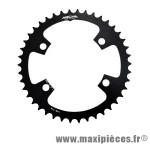 Plateau 42 dents route diamètre 110 intérieur noir (comp.shim.9000/6800/5800 4 branches) 11v. marque Miche - Pièce Vélo * Prix spécial !