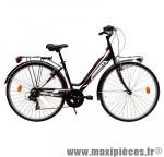 Vélo ville city c481 dame émotion noir/fushia t44 acier tx35 6v rigi marque Carratt - Vélo de Ville complet