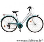 Vélo ville city c481 dame émotion blanc/vert t44 acier tx35 6v rigi marque Carratt - Vélo de Ville complet