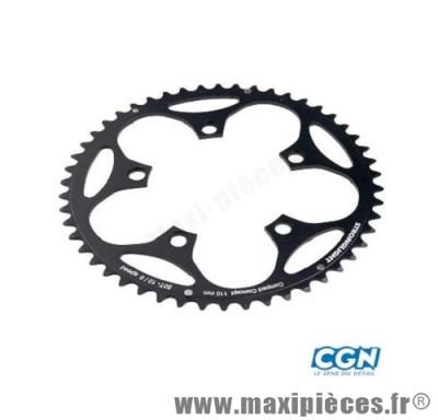 Plateau 48 dents route diamètre 110 extérieur noir dural 10/9v. marque Stronglight - Pièce Vélo