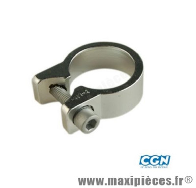 Collier tige de selle route d31.8 mm argent alu - Accessoire Vélo Pas Cher