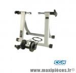 Home trainer magnétique blanc/argent (5 niveaux de réglage marque No Contest - Accessoire Vélo