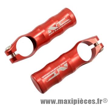 Embout de cintre VTT rouge alu cnc 67.5 gr. (paire) marque No Contest - Accessoire Vélo