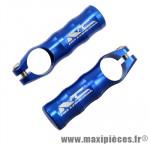 Embout de cintre VTT bleu alu cnc 67.5 gr. (paire) marque No Contest - Accessoire Vélo