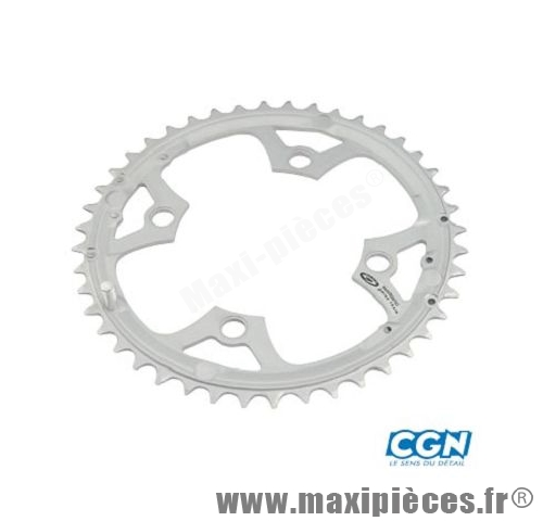 Plateau 44 dents VTT triple diamètre 104 extérieur argent 4 branches origine deore m510 9v marque Shimano - Matériel pour Vélo