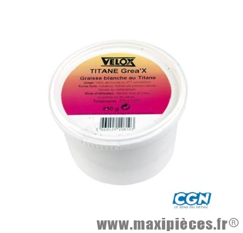 Graisse blanche titane (pot 250gr) marque Vélox