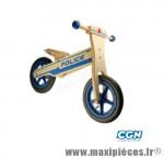 Vélo sans pédale en bois draisienne -style police- bleu des 20 mois a 4 ans - Accessoire Vélo Pas Cher - Draisienne pour enfant