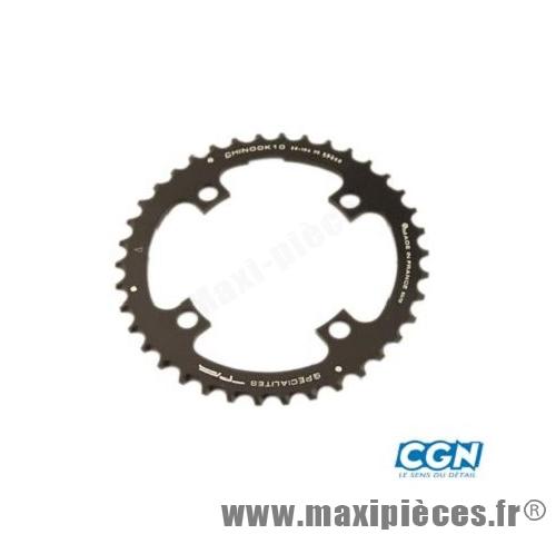 Plateau 38 dents VTT triple diamètre 104 interm noir 4 branches chinook 10v marque Spécialités TA - Matériel pour Vélo