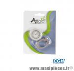 Montre vélo alu cnc argent - fixation sur cintre - marque Atoo - Matériel pour Vélo
